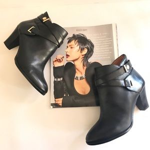 Louise Et Cie Black Heeled Ankle Boots   size 9